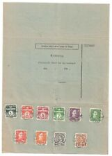 """FAEROE ISLANDS-DOCUMENT WITH STAMPS TIED BY UNDATED """"SANDEVAAG"""" D/RING"""