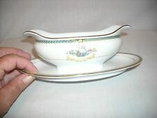 Noritake Romance gravy boat with attached underplate - excellent