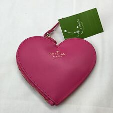 NEW Kate Spade New York PINK HEART Coin Purse Wallet Clutch RARE