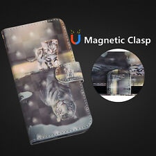 Magnetic Flip Wallet Card PU Strap Leather Stand Case Cover For LG SONY ZTE Moto