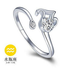 European Silver Luxury Rings Open Ring Fit Women Fashion Jewelry Gift Free Size