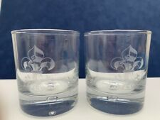 Regimental Crest Engraved Personalized, Pair of Whisky Glasses- in cardboard box