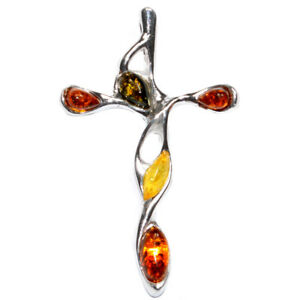 4g Authentic Baltic Amber 925 Sterling Silver Pendant Jewelry N-A227B