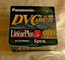 NEW Panasonic DVC 60/90 Minute Mini DV Cassette 5 Pack  FREE SHIPPING INCLUDED.