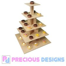 5 tier large cupcake cake square stand MDF wedding party birthday celebrations