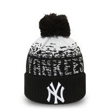 NEW ERA NEW YORK YANKEES BOBBLE HAT.BLACK MLB LINED SPORT POM POM KNIT BEANIE 9W