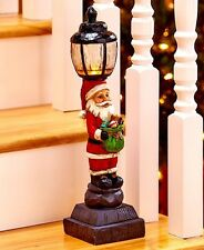 Lighted Santa Holiday Lamppost Christmas Stairway Decoration Winter Home Decor
