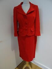 LK BENNETT RED BUSINESS ,OFFICE SKIRT SUIT  SIZE 10/12  IN VERY GOOD CONDITION