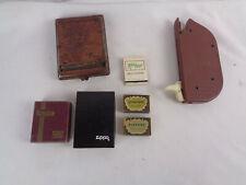 Vitg Lighter Cigarette Lot - Zippo & Ronson Box Only- La Petite matches - Laredo