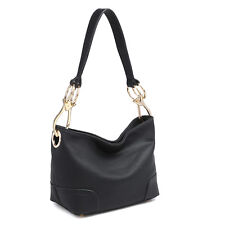 Dasein Women Handbag Corner Patched Hobo Tote Bag Shoulder Medium Purse