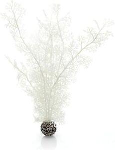"Oase Biorb Easy Plant White Sea Fan Large weighted plastic aquarium 15"""