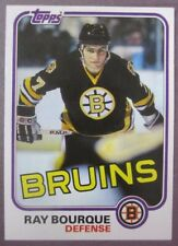 1981-82 Topps #5 Ray Bourque Boston Bruins 2nd Year