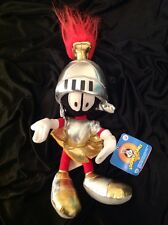 Vintage 2002 Warner Brothers Metallic Silver & Gold MARVIN THE Plush Doll & Tag