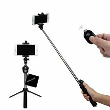 Bluetooth Remote and Tripod Stand, Bluetooth Shutter Selfie Stick With Tripod