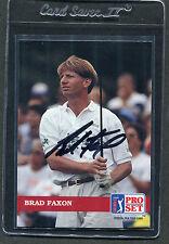 1992 Pro Set Golf Brad Faxon #113 Signed Autograph