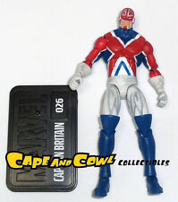 "Marvel Universe Series 2 #026 CAPTAIN BRITAIN Loose 3.75"" Figure Hasbro 2010"