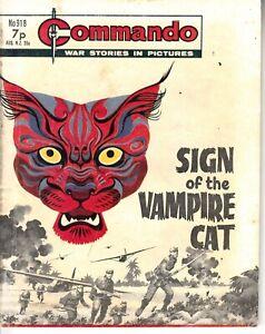 COMMANDO COMIC - No 918   SIGN OF THE VAMPIRE CAT