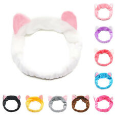 New Big Cat Ear Soft Towel Hair Band Wrap Headband For Bath Spa Make Up 1pcs