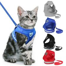 New listing Adjustable Cat Harness Vest Walking Lead Leash Collar For Cats