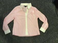 Shirt Pink And White Stripe Cotton Bus Or Fun Size 16 Charlie Brown