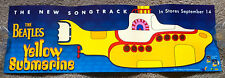 THE BEATLES YELLOW SUBMARINE 1999 CD LP DVD VHS PROMO BANNER POSTER 9x27