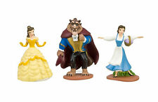3pc Beauty & The Beast Playset 3 Figure Cake Topper *Fast Shipping* Toy Doll Set
