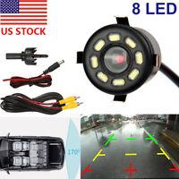 Waterproof 170° CMOS Car Rear View Backup Camera Reverse 8 LED Night Vision NEW