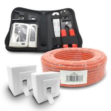 Cat 7 verlegekabel 100m cable de red 2x red lata cat6a herramienta Red