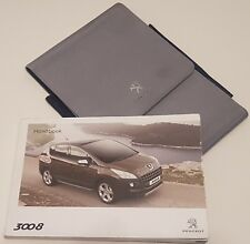 Genuine PEUGEOT 3008 OWNERS MANUAL HANDBOOK 2009-2014 INCLUDES WALLET NAVIGTAION