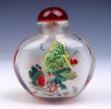 Peking Glass Inside Reverse Hand Painted Summer Scenery Snuff Bottle #01021601