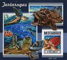 Mozambique 2015 MNH Turtles 1v S/S Reptiles Loggerhead Sea Turtle