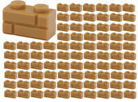 ☀️100x NEW LEGO 1x2 MEDIUM DARK FLESH Modified Masonry Profile Bricks 98283 BULK