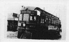 7C521 2ND GEN RP CHICAGO & SOUTHERN TRACTION CO CAR #202 AT TICKET OFFICE