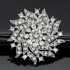 Fashion Crystal Rhinestone Flower Pin Brooch Party Wedding Bridal Dress Jewelry