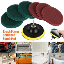 7pcs Cleaning Drill Brush Cleaner Kit Carpet Tile Power Scrubber Tub Attachment