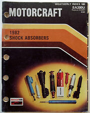 1982 Ford Motorcraft Shock Absorbers Catalog Weatherly Index 180 O.E.M. Original