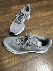 Nike Mens Downshifter 9 AQ7481-001 Gray Running Shoes Lace Up Low Top Size 9.5