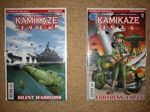 Lot of KAMIKAZE 1946 Issues #5, 6 Antarctic Press 2001 Near Mint