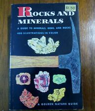 Rocks And Minerals & Gems A Golden Press Nature Guide 1957 w/Color Illustrations