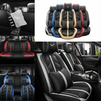 Universal 5-Sits Car Seat Covers PU Leather Cushion Front Rear Auto SUV Interior