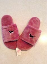 Victoria's Secret PINK Cozy Slippers Size Small 5-6 Soft Begonia Pink NWT