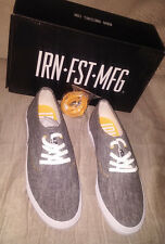 IRON FIST WINSTON Charcoal Grey w/ Gold Trim Mens Shoes US Size 10