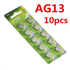 10pcs AG13 GP LR44 A76 SR66 1.5V Button Cell Coin Battery Batteries New