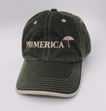 PRIMERICA Adjustable Green Strapback Curved Brim Dad Hat Baseball Cap