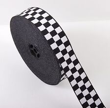 Assorted Police Cap Ribbon - Black & White - Diced