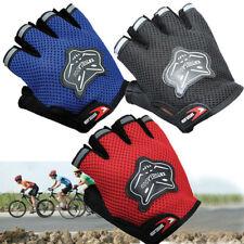 Pair Kids Children Bicycle Cycling Half Finger Gloves Fingerless Anti-Slip Sport