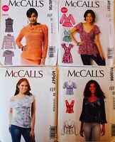 U PICK! MISSES & WOMENS PLUS SIZE PEASANT TOP or  BLOUSE SEW PATTERN SZ 8-24 UC