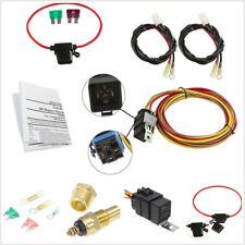 Car Professional 165 180 Degree 40A Dual Electric Cooling Fan Wiring Harness Kit
