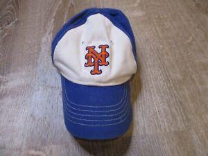 Vintage MLB New York Mets Child Infant Hat Baseball Cap Blue White Newborn