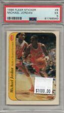 Michael Jordan 1986-87 Fleer Rookie Sticker #8 Bulls PSA 5 RC
